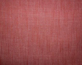 Fabric - Art Gallery -Scarlet Brick Solid Textured 10oz Denim