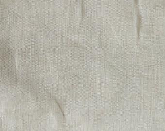 SALE - Fabric -Light weight semi sheer open weave linen – cream – 2.00m piece
