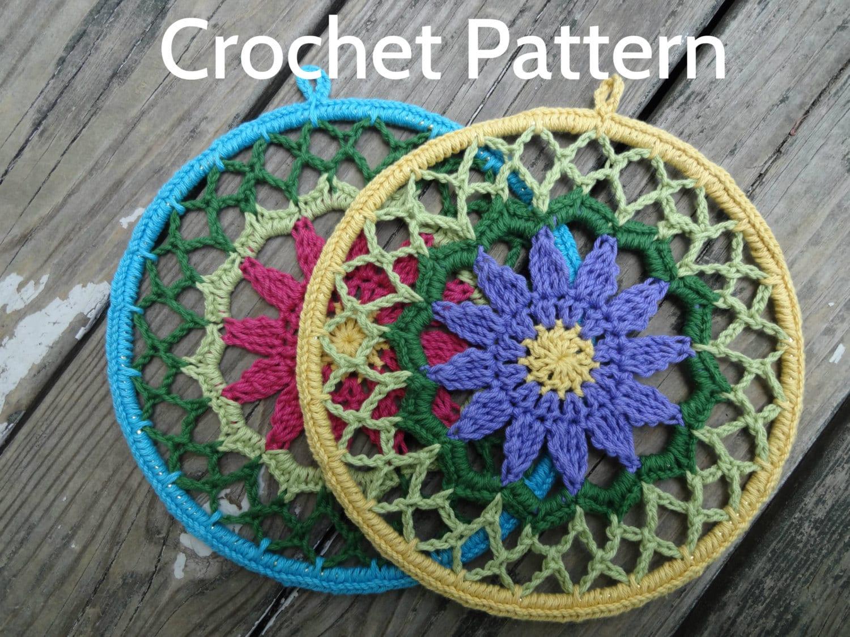 Pdf Crochet Pattern Lillians Mandala 8 Inch Etsy