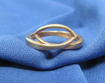 Cool Vintage Jewelry For Women Gold Rings Size 9 Stylish Rings Simple 14KT GP Rings
