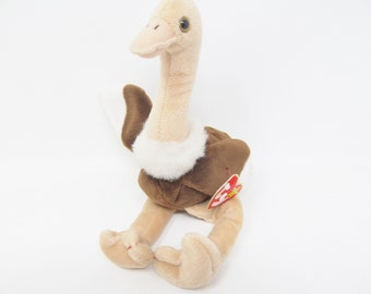 w// bonus McDonald's Teenie Ty Beanie Babies Stretch Ostrich 1997 Set of 2