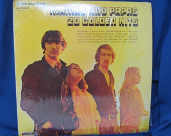4b0881246a Mamas And Papas 20 Golden Hits 2 Record Set - Vinyl Record Albums 1973