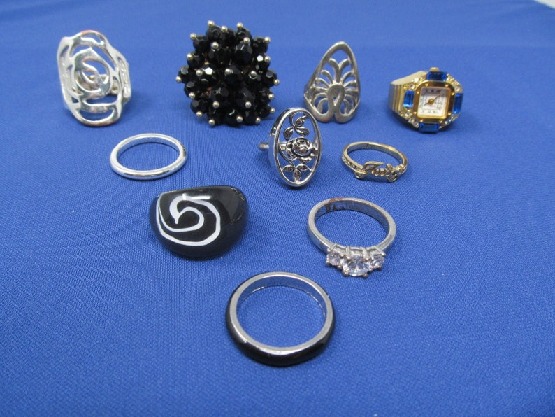 Ring Lot Wear-anywhere Vintage Jewelry For Women 10 Rings For Women Timeless Pretty