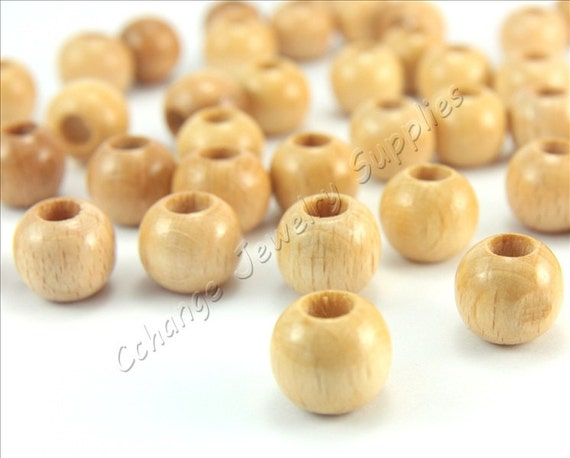 Natural light Wood Round Beads 8mm Jewellery making Crafts Bag of 50 or 100