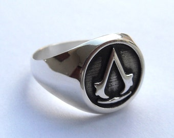Assassin's Ring Solid Sterling Silver 925