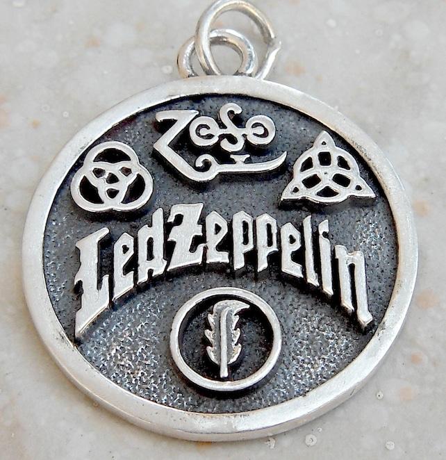 Led Zeppelin Swan Song Zoso 4 Symbols 3d Pendant Solid Etsy