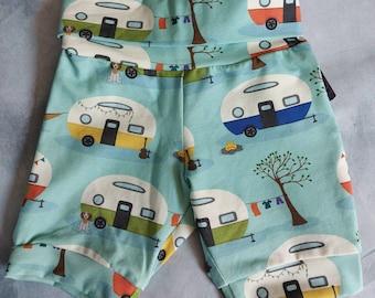Shorts. Cuffed summer jersey shorts. Unisex kids shorts.