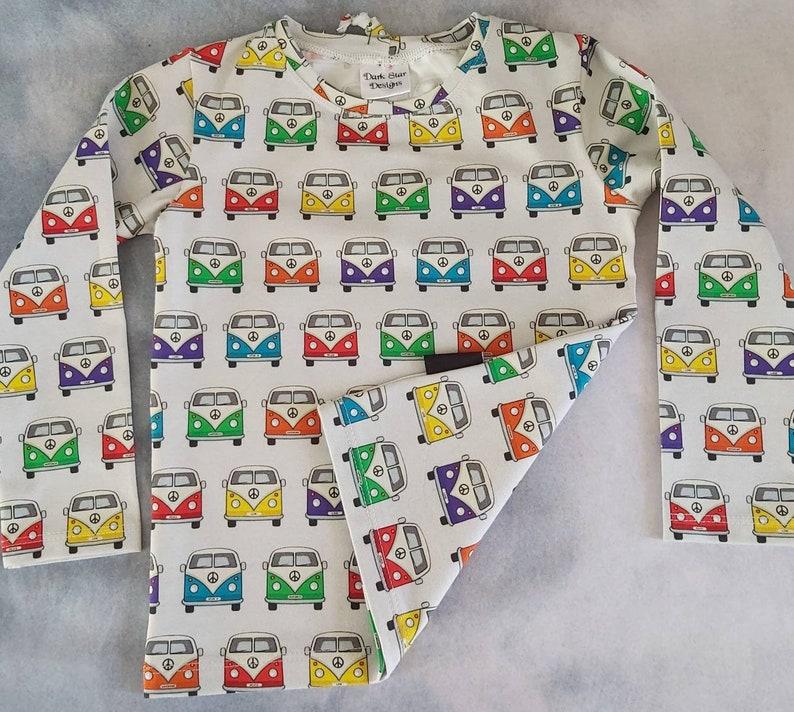 Campervan t-shirt unisex top t-shirt childrens clothing. image 0