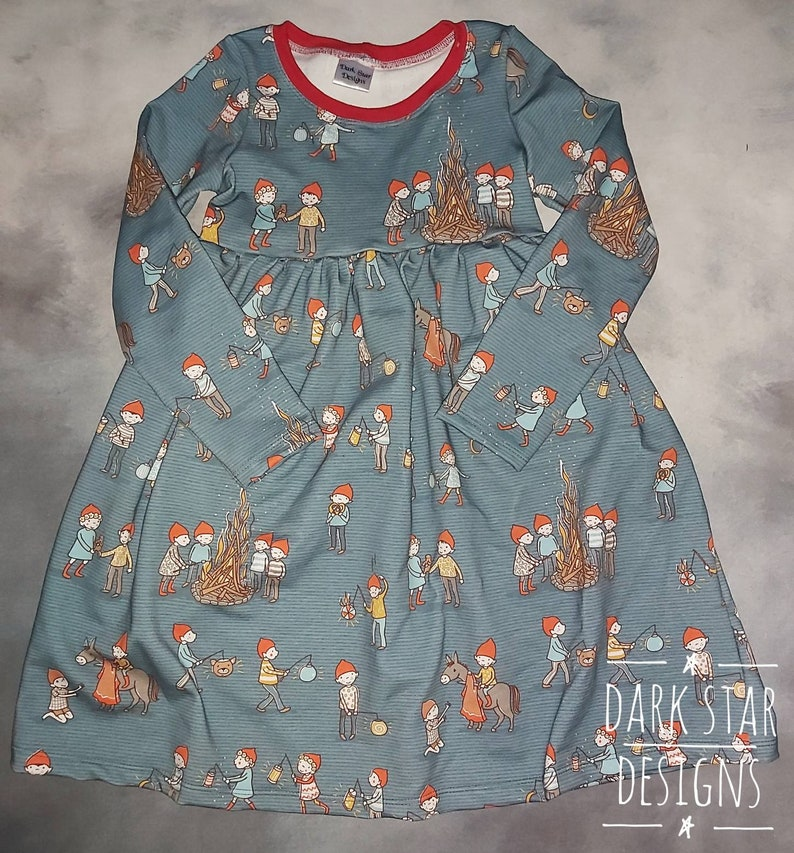 Christmas dress Childrens organic winter clothes play image 0