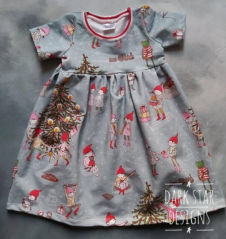 Christmas dress Childrens organic winter clothes play dress image 0
