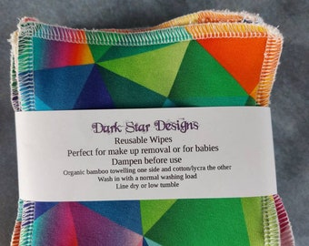 Reusable cloth wipes. Organic bamboo wipes.