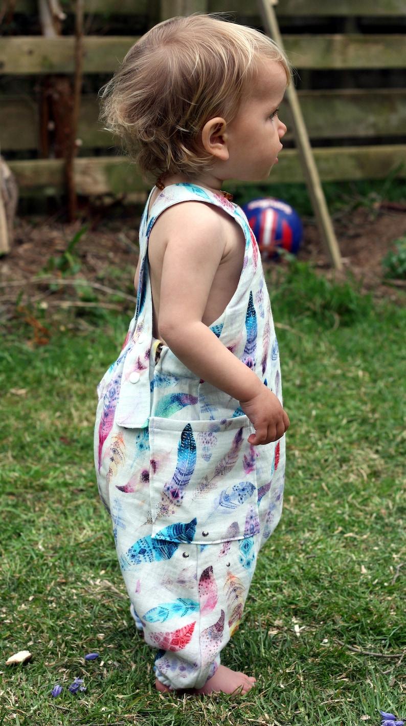 Summer romper barefoot romper harem dungarees image 0