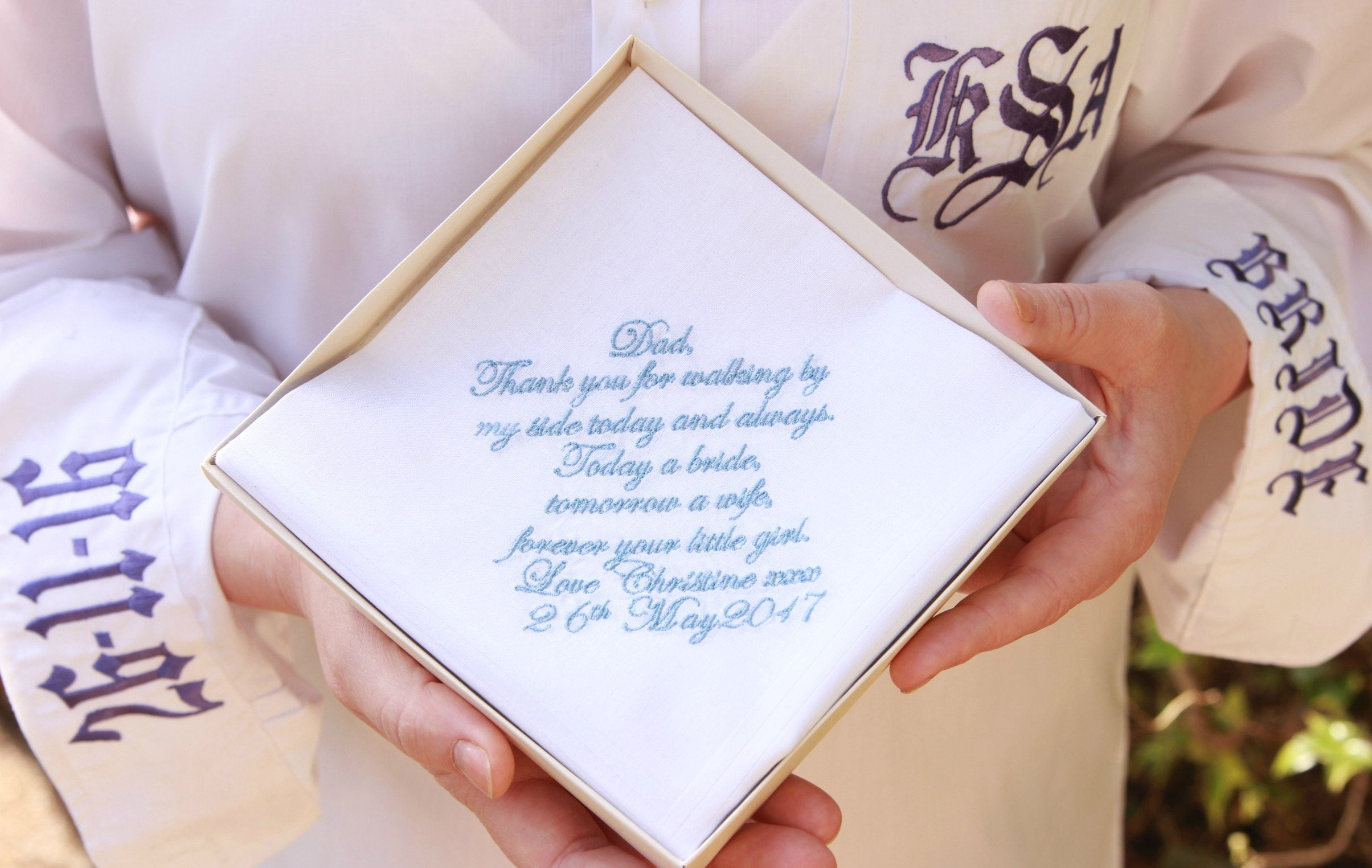 Mens Wedding Gifts From Bride: Personalized Embroidered Men Clothing Wedding Gift Gift