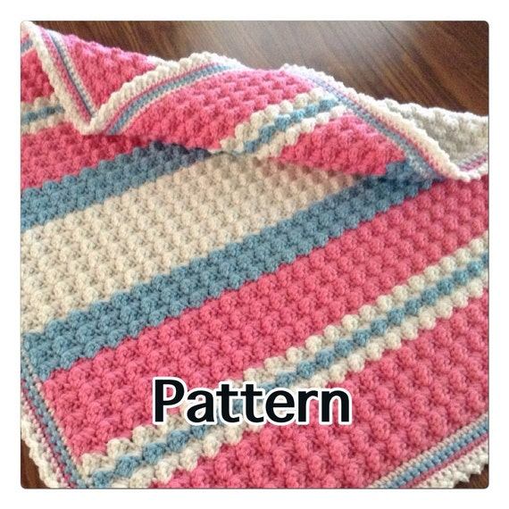 Pattern For Unique Textured Crochet Baby Blanket Sweet Shell Etsy