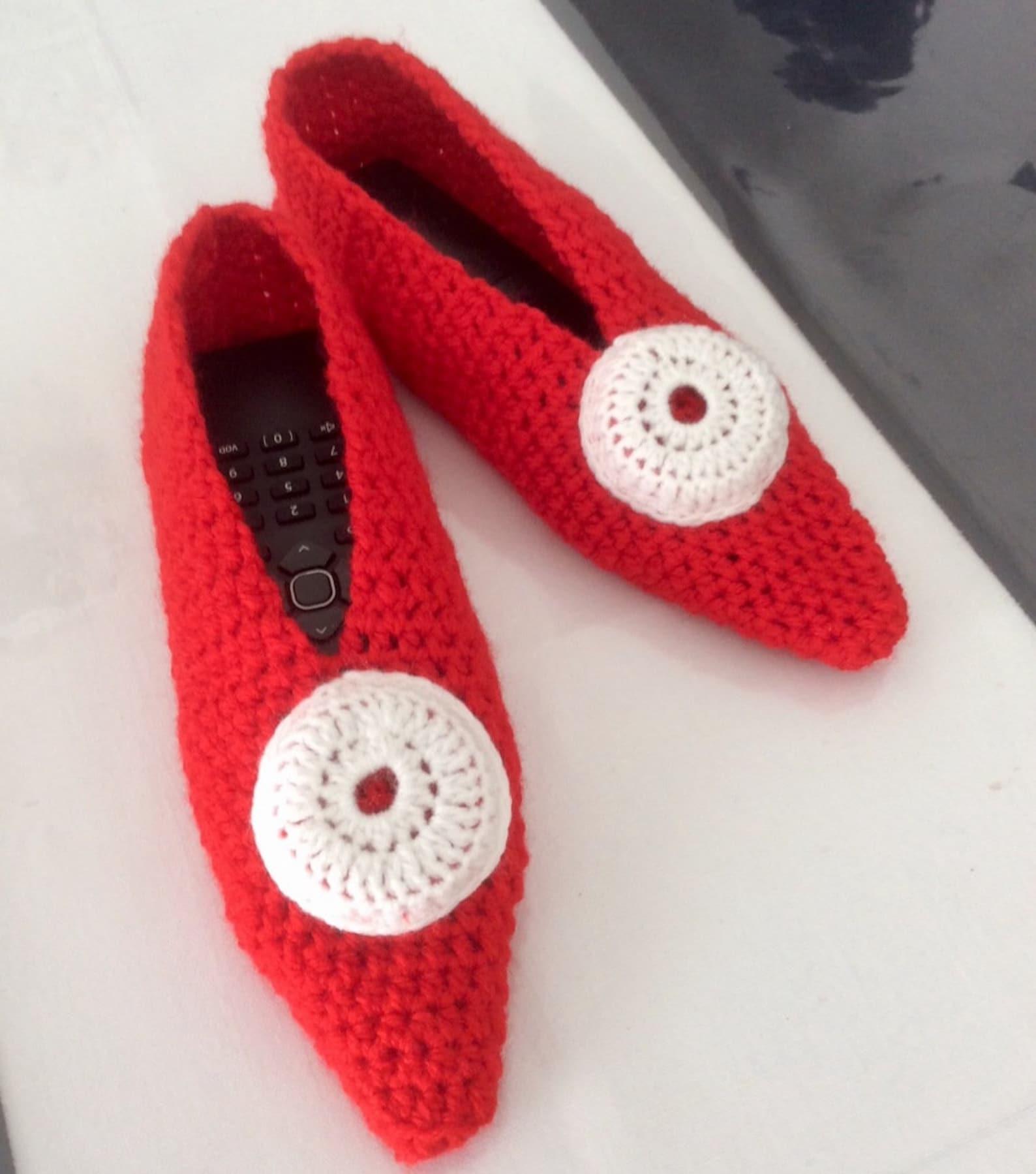slippers - ballet flats for woman, girl crochet t37-38