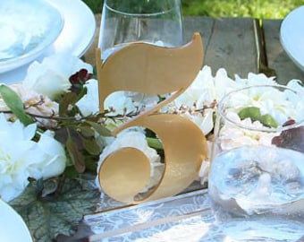 free standing acrylic table numbers, numeral : wedding decor