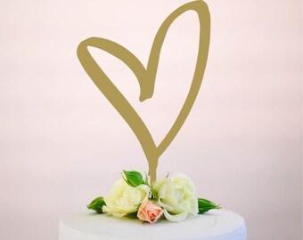heart cake topper : bridal shower topper | engagement topper | wedding topper | birthday topper