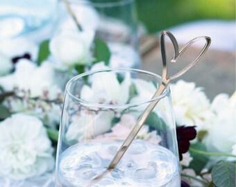 heart : swizzle sticks, drink stirrers, party decor [set of 6]