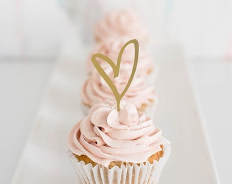 heart : cupcake toppers [set of 6]