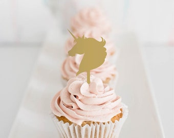 unicorn : cupcake toppers [set of 6]