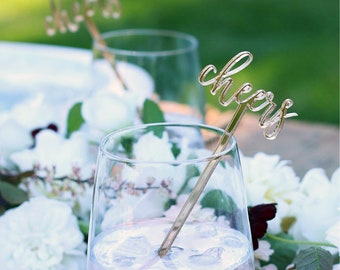 cheers : swizzle sticks, drink stirrers, party decor [set of 6]