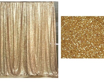 Craft Own Gold Sequin Wedding Curtain 3 Ft By 7 Backdrop Add Elegant Shiny Sequins For Special Events Party Weddings Birthday