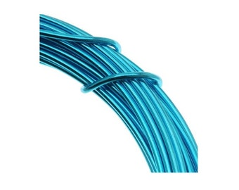 Aluminum Turquoise Craft Wire  Feet Craft Projects And Jewelry Wire Easily Bendable Wire For Projects Like Wedding Dress Hanger