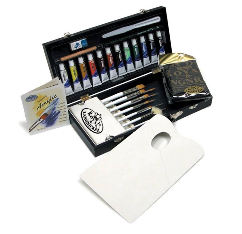 Coffret de peinture acrylique or coffret or peinture, artiste, peinture acrylique ensemble d'Art peinture, or avec boîte de rangement de voyage pour cadeau ou un ensemble d'Art débutant 460184