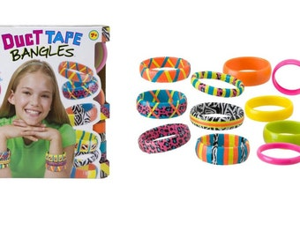 Do It Yourself Wear Duct Tape Bangles Bracelets, Easily Make Funky Strips Of Duct Tape Bracelets, Create Different Fun Bracelets With Kids