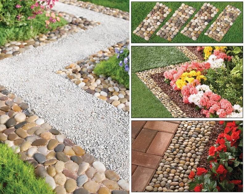 Créer propre pierre galet jardin chemin tapis extérieur voie 4 | Etsy