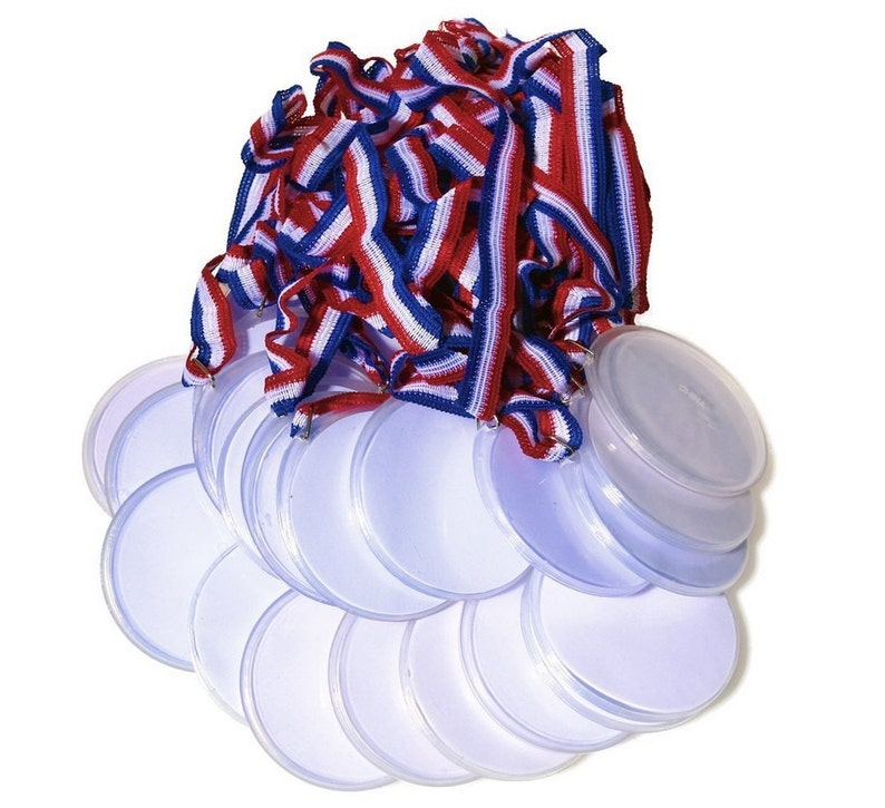 Design Your Own Award Medals 24 Count, Blank Medals For You To Customize  For Kids Olympic Or Sports Theme Parties, Party Winner Award Favors