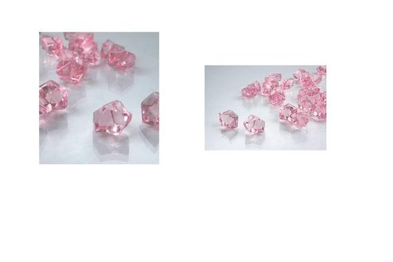 2 Pounds Of Pink Acrylic Ice Rocks Vase Gems Or Wedding Table Etsy