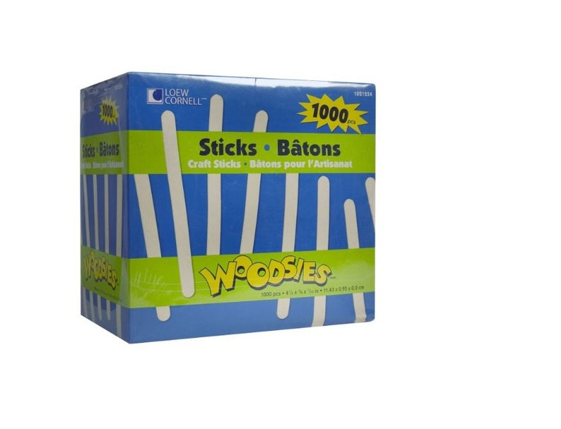 """NEW/"""" Crayola Craft Wooden Sticks Lolly Sticks Natural or Coloured  Pieces Crafts"""