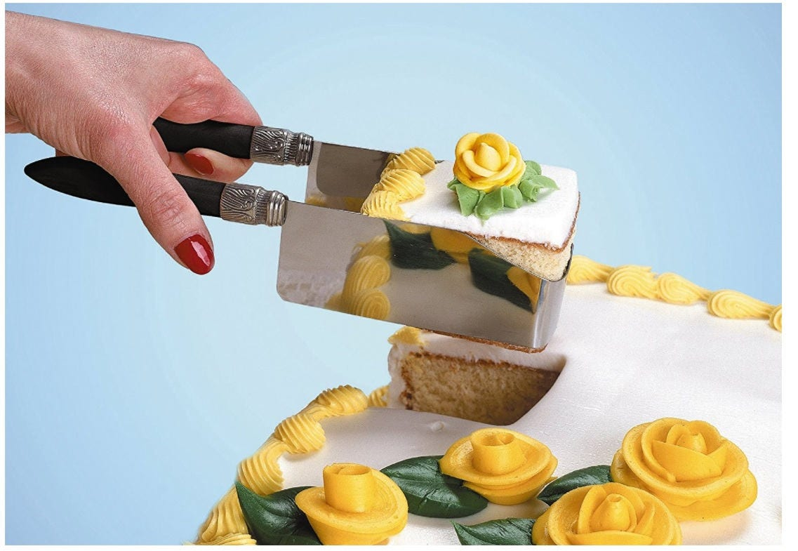 Square Cake Cutter Server For Easily Cutting And Serving