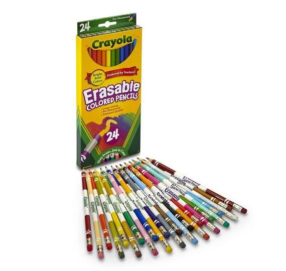 Lápices de colores Crayola 24 cuenta borrable lápices | Etsy