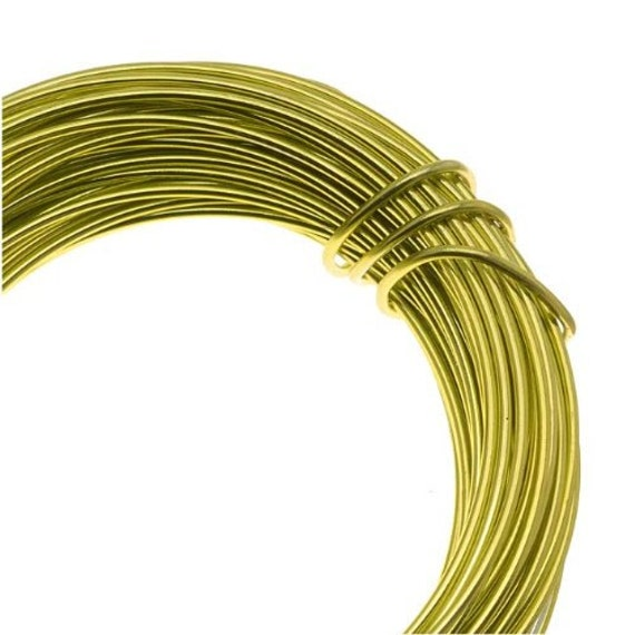 Aluminum Apple Green Craft Wire 12 Gauge 39 Feet, Craft Projects And ...