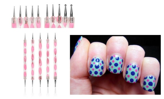 Marbleizing Dotting Pen Set For Nail Art Manicure Pedicure 5 Etsy