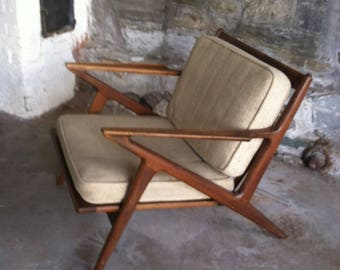 Mid Century Z Chair Poul Jensen Selig Danish Modern Made In Denmark  Scandinavian ModernTeakwood Vintage