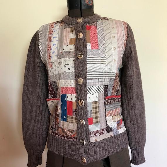 Rare Ralph Lauren Sweater Jacket Patchwork Western