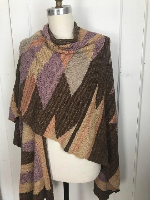Ralph Lauren Hand knit Sweater Cape Coat Hand Knit
