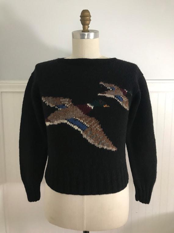 Vintage Ralph Lauren Sweater Hand knit Duck Sweate