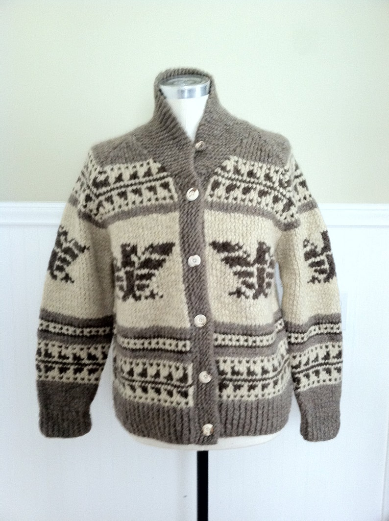 4a864224a Ralph Lauren Sweater Cowhichan Cardigan Hand knit Indian