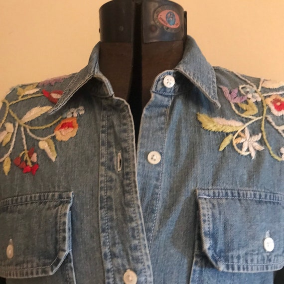 Vintage Ralph Lauren Western Shirt Denim Embroider