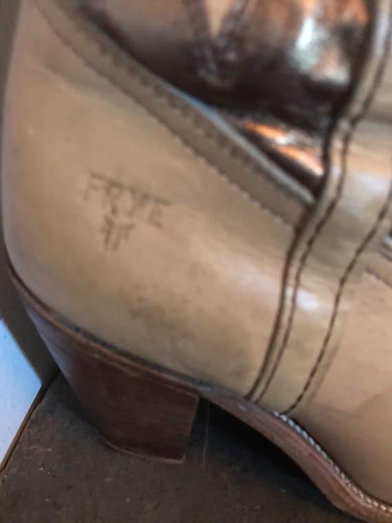 Vintage Frye Boots Western Boots Cowboy Boots Lea… - image 2