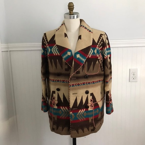 Vintage Ralph Lauren Indian Blanket Coat Beacon Ja