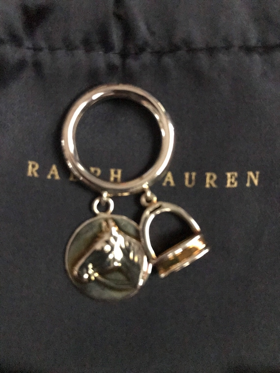 Ralph Lauren Equestrian Ring Dangle Charm Horse St
