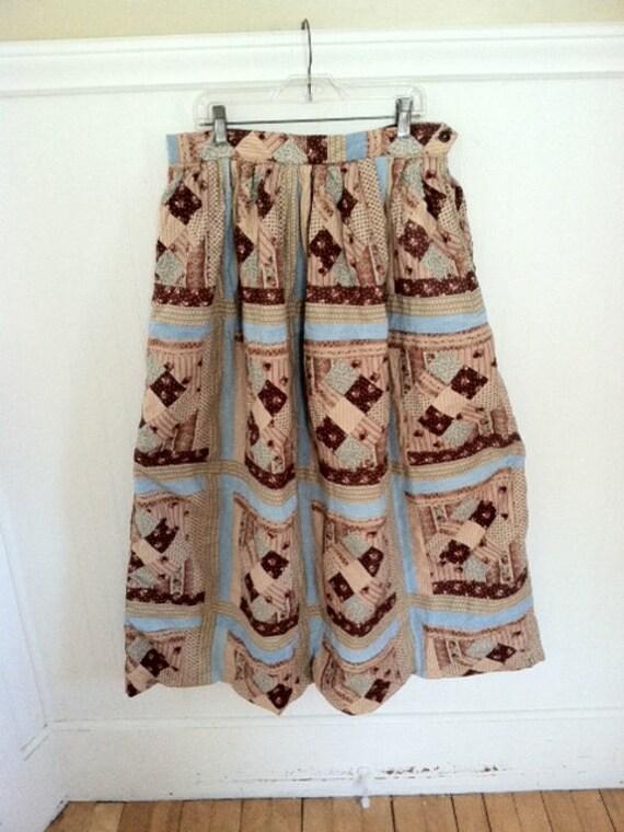 Ralph Lauren Patchwork Skirt Ball Skirt Patched Vi