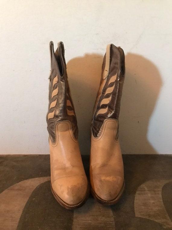 Vintage Frye Boots Western Boots Cowboy Boots Lea… - image 8