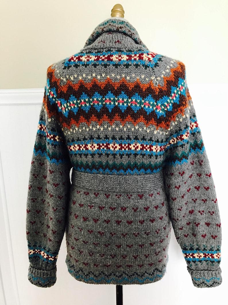 132151b6fd0 Ralph Lauren Sweater Hand knit Cardigan Shawl Fairisle Indian