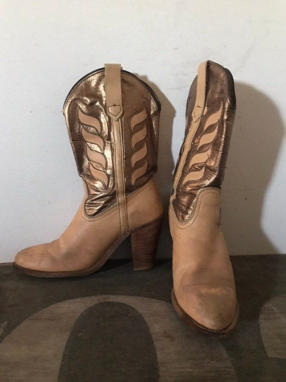 Vintage Frye Boots Western Boots Cowboy Boots Leat